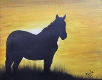 Mustang Silhouette von Tanja  Beaver