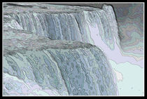Niagara Falls Contour Drawing Effect by Rose Santuci-Sofranko