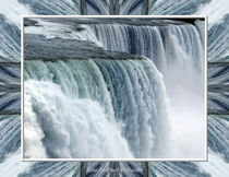 Niagara Falls American Side Closeup With Warp Frame by Rose Santuci-Sofranko
