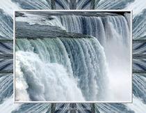 Niagara Falls American Side Closeup With Warp Frame von Rose Santuci-Sofranko