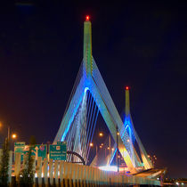 Blue Zakim - Boston by Joann  Vitali