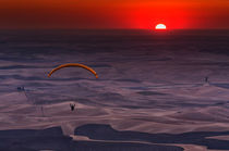 Sunset Paragliding by Mark Kiver