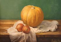 Still life painting with a pumpkin von Milos Radulov