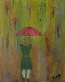 Walking in the rain by Tanja  Beaver