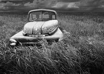 At Roads End Black and White Version by Randall Nyhof