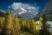 Mountain Range at Glacier National Park von Randall Nyhof