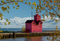 Big Red Lighthouse by Holland Michigan No.0255 von Randall Nyhof
