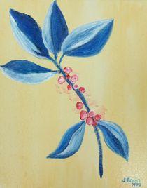 Blue Leaves and Berries by Jamie Frier