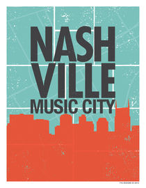 Nashville Music City by 716designs