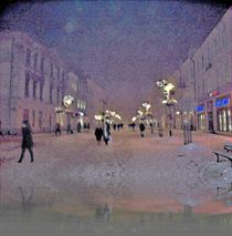 Snowy Night In Lublin  by Rick Todaro