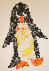Spiral Penguin! by rachelevansdesigns