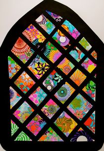 Spiral Stained glass window. by rachelevansdesigns