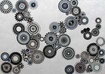 Monochrome Spirals von rachelevansdesigns