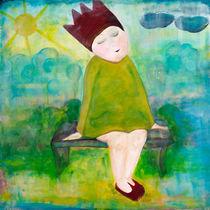 Die kleine Prinzessin auf der Parkbank von mimacko