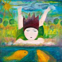 Die kleine Prinzessin am Teich by mimacko