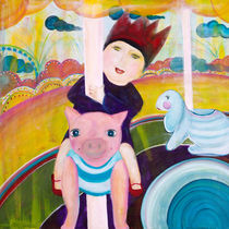 Die kleine Prinzessin auf dem Karussel von mimacko