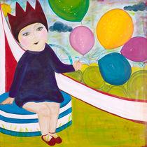 Die kleine Prinzessin mit Luftballons by mimacko