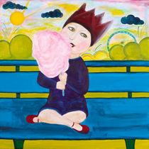 Die kleine Prinzessin isst Zuckerwatte by mimacko