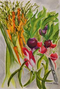 Carrots and Radishes by Jamie Frier