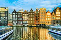 Amsterdam In Gold von Michael Abid