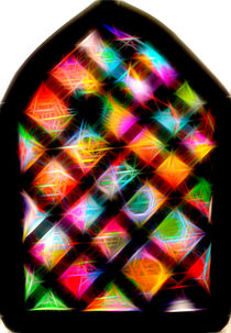 Spiral Stained glass window with Stars!