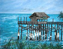 Pier Painting by Derek McCrea