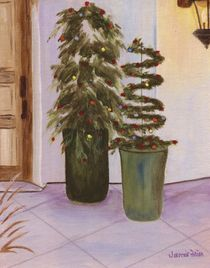 Christmas Trellis Trees by Jamie Frier