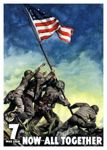 Raising The Flag On Iwo Jima -- Now All Together by warishellstore