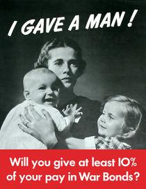 I Gave A Man -- World War Two by warishellstore