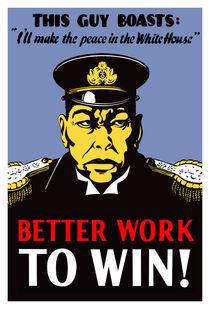 Better Work To Win -- World War II von warishellstore