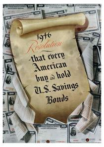 1946 Resolution - That Every American Buy And Hold U.S. Savings Bonds von warishellstore