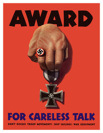 Award For Careless Talk -- WW2 by warishellstore