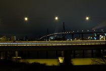 Hamburg Köhlbrandbrücke Autobahn A7 bei Nacht by Andreas Jantzen