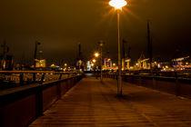 Hamburg Övelgönne bei Nacht von Andreas Jantzen