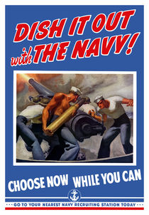 Dish It Out With The Navy -- WWII by warishellstore
