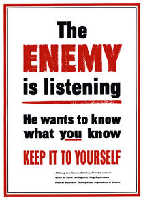 The Enemy Is Listening -- World War 2 von warishellstore