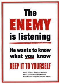 The Enemy Is Listening -- World War 2 by warishellstore