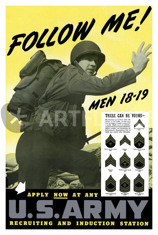 232 129 follow me us army ww2 poster