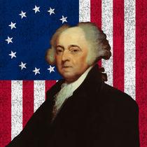 John Adams and The American Flag von warishellstore