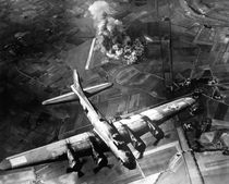 B-17 Bomber Over Germany by warishellstore
