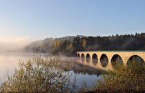 Die Brücke im Herbst by Bernhard Kaiser