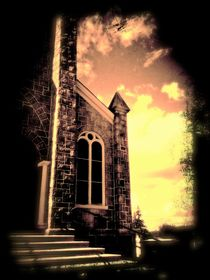 Church Vignette Against Sky by Maggie Vlazny