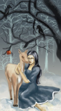 snow withe and the doe by Heidi Reil