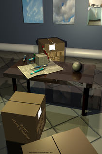Office Cubes and Sphere by Peter Grayson