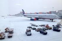 Moscow airport in winter. by Tatyana Samarina