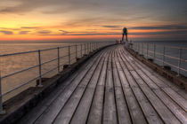 Whitby West Pier by Martin Williams