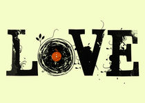 Love Vinyl Records - Grunge Vintage - Music DJ von Denis Marsili