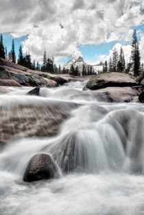 Tuolumne River and Unicorn Peak by Chris Frost