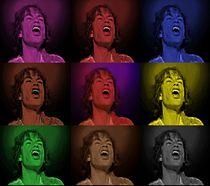 Mick Jagger Pop Art Print von David Dehner