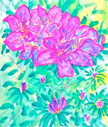Azalea Bush by Christine Chase Cooper